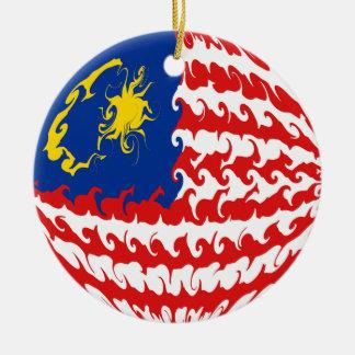 Drapeau Gnarly de la Malaisie Décorations De Noël