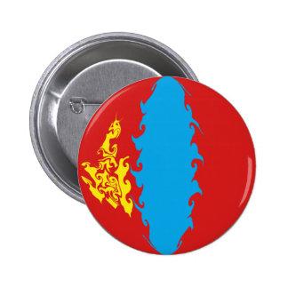 Drapeau Gnarly de la Mongolie Badges