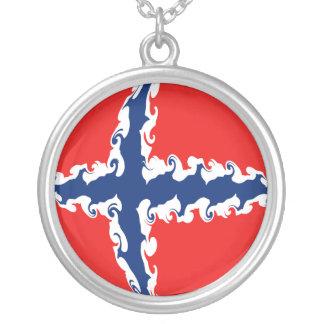 Drapeau Gnarly de la Norvège Pendentif Rond