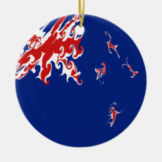 Drapeau Gnarly de la Nouvelle Zélande Décorations De Noël