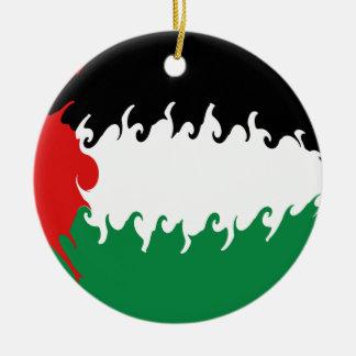 Drapeau Gnarly de la Palestine Ornement De Noël