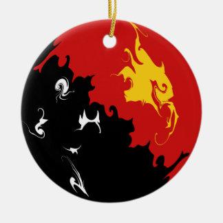 Drapeau Gnarly de la Papouasie-Nouvelle-Guinée Décorations De Noël