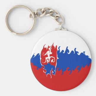 Drapeau Gnarly de la Slovaquie Porte-clefs
