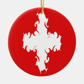 Drapeau Gnarly de la Suisse Décorations De Noël