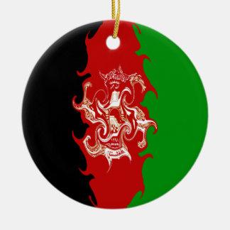 Drapeau Gnarly de l'Afghanistan Décorations De Noël