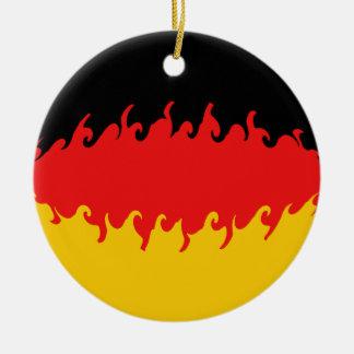 Drapeau Gnarly de l'Allemagne Ornement Rond En Céramique