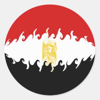 Drapeau Gnarly de l'Egypte Adhésifs Ronds