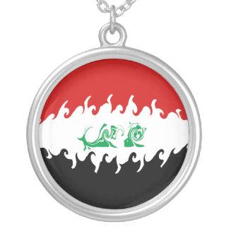 Drapeau Gnarly de l'Irak Pendentif Rond