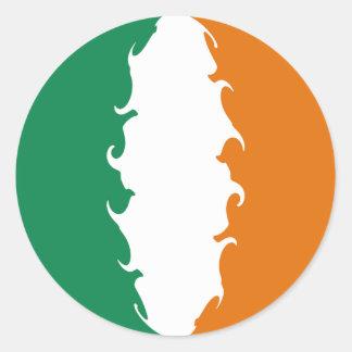 Drapeau Gnarly de l'Irlande Autocollants Ronds