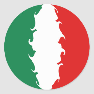 Drapeau Gnarly de l'Italie Autocollant Rond