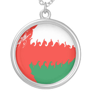 Drapeau Gnarly de l'Oman Pendentif Rond