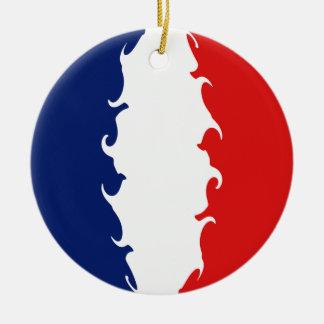 Drapeau Gnarly de Mayotte Ornement Rond En Céramique