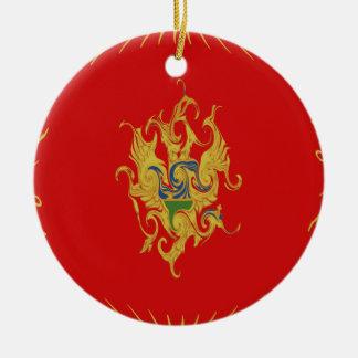 Drapeau Gnarly de Monténégro Décorations De Noël