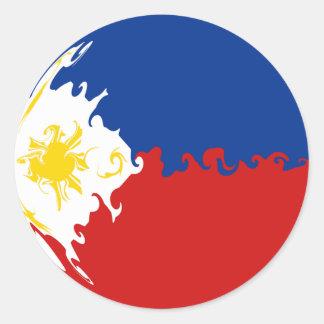 Drapeau Gnarly de Philippines Autocollant