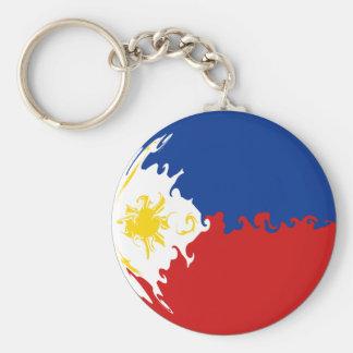 Drapeau Gnarly de Philippines Porte-clé