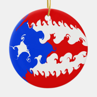 Drapeau Gnarly de Porto Rico Décoration Pour Sapin De Noël