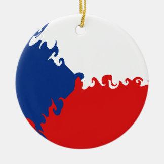 Drapeau Gnarly de République Tchèque Décorations De Noël