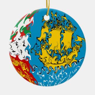 Drapeau Gnarly de Saint-Pierre-et-Miquelon Décoration Pour Sapin De Noël
