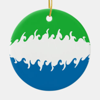 Drapeau Gnarly de Sierra Leone Ornement De Noël