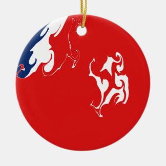 Drapeau Gnarly de Wallis-et-Futuna Décorations Pour Sapins De Noël