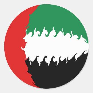 Drapeau Gnarly des Emirats Arabes Unis Adhésifs Ronds
