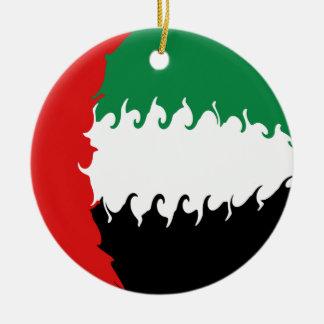 Drapeau Gnarly des Emirats Arabes Unis Décoration De Noël