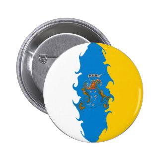 Drapeau Gnarly des Îles Canaries Badge
