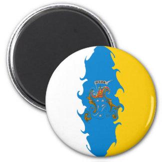 Drapeau Gnarly des Îles Canaries Magnets Pour Réfrigérateur
