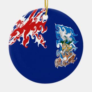 Drapeau Gnarly des Îles Falkland Décoration Pour Sapin De Noël