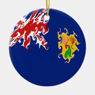 Drapeau Gnarly des Îles Turques et Caïques Décorations Pour Sapins De Noël