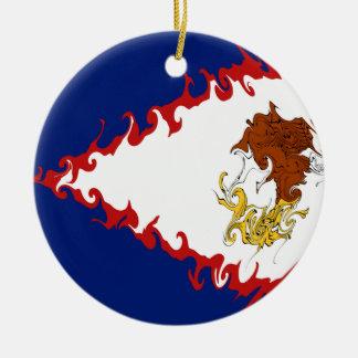 Drapeau Gnarly des Samoa américaines Ornement De Noël