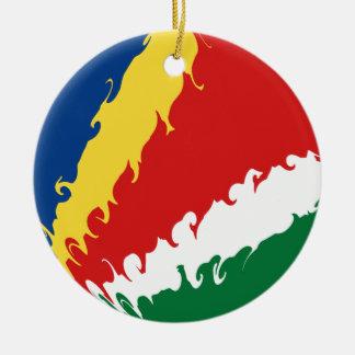 Drapeau Gnarly des Seychelles Décoration Pour Sapin De Noël
