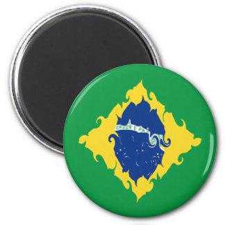 Drapeau Gnarly du Brésil Aimants