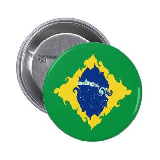 Drapeau Gnarly du Brésil Pin's Avec Agrafe