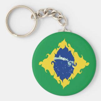 Drapeau Gnarly du Brésil Porte-clef