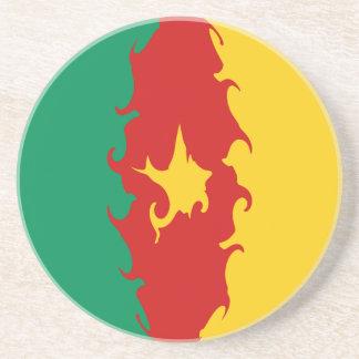 Drapeau Gnarly du Cameroun Dessous De Verres