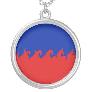 Drapeau Gnarly du Haïti Pendentif Personnalisé