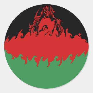 Drapeau Gnarly du Malawi Autocollants Ronds