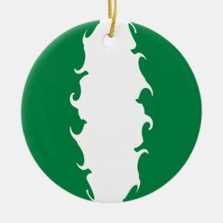 Drapeau Gnarly du Nigéria Ornement De Noël