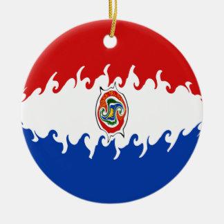 Drapeau Gnarly du Paraguay Décoration Pour Sapin De Noël