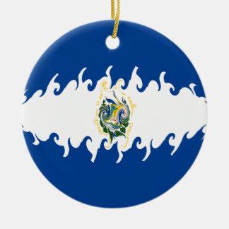 Drapeau Gnarly du Salvador Décorations Pour Sapins De Noël