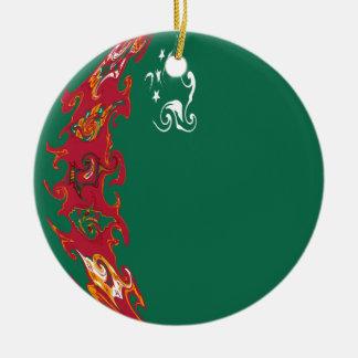 Drapeau Gnarly du Turkménistan Décoration Pour Sapin De Noël