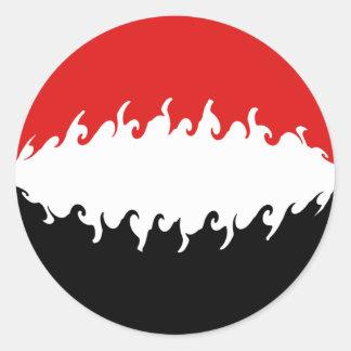 Drapeau Gnarly du Yémen Autocollants Ronds