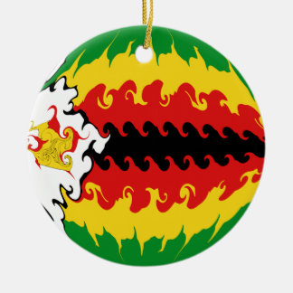 Drapeau Gnarly du Zimbabwe Ornement De Noël