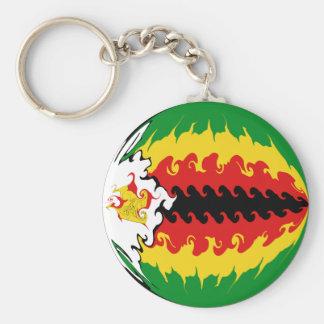 Drapeau Gnarly du Zimbabwe Porte-clés