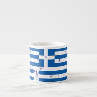 Drapeau grec de café express de tasse avec Evzone