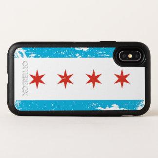 Drapeau grunge de Chicago