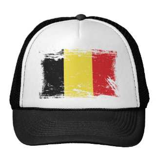 Drapeau grunge de la Belgique Casquettes De Camionneur