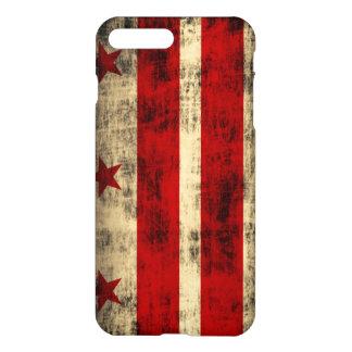Drapeau grunge de Washington DC Coque iPhone 7 Plus