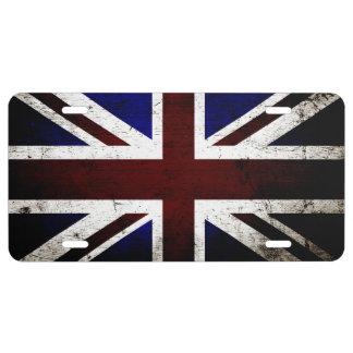 Drapeau grunge noir 1 de l'Angleterre